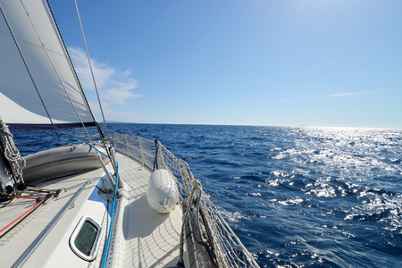 Sailing yacht on the race Imagens