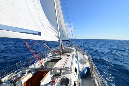 Yacht, sailing regatta. Stockfoto