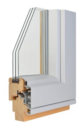 tripple: Aluminiumwooden window profile with tripple glazing