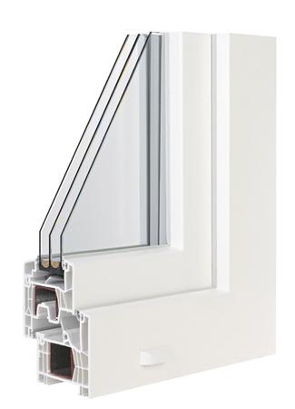 PVC-Profil-Fenster mit Dreifachverglasung