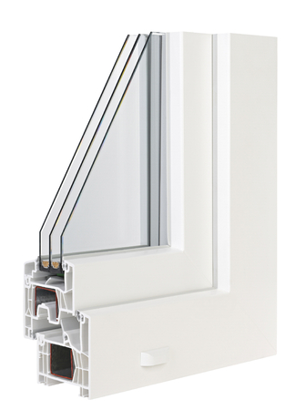 Pvc profile windows with triple glazing Stock Photo - 33176002
