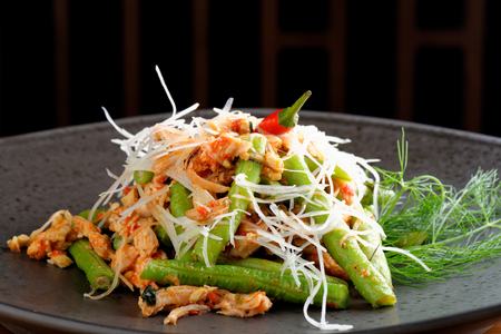 long beans: Bali style chicken with lemongrass and long beans