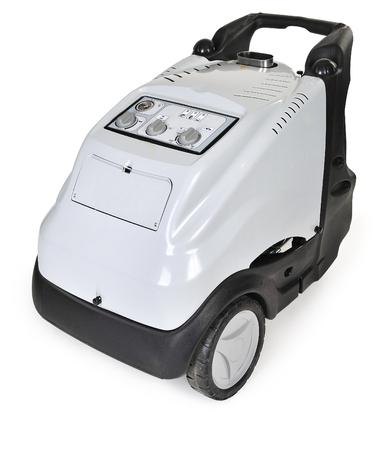 High pressure washer with hot water and steam photo