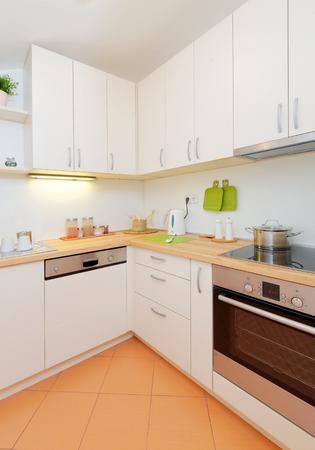 Modern kitchen at home photo