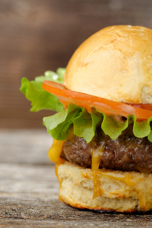 all american burger: Gourmet cheeseburger