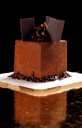Fine dining, French chocolate gourmet mignon cake