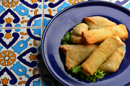 middle eastern food: Middle eastern food fatayer stuffed in spinach