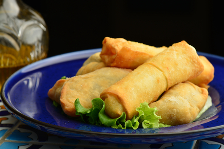 lebanese food: Middle eastern food fatayer stuffed with spinach and cheese