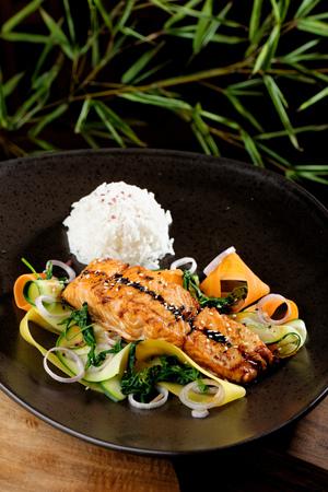 teriyaki: Salmon teriyaki - japanese food style