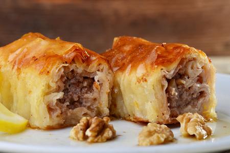 yufka: Handmade walnuts baklava, traditional turkish pastry