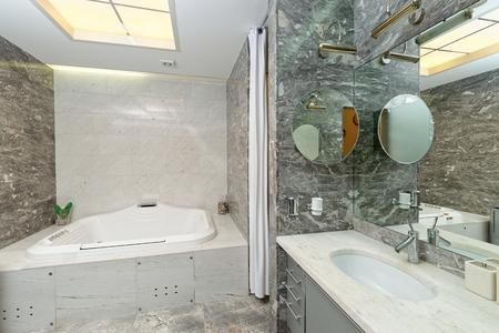 luxury bathroom: Luxury marble Bathroom Interior Stock Photo