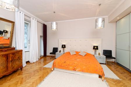luxury bedroom: Elegant and luxury Bedroom interior Stock Photo