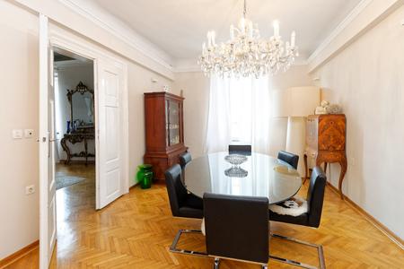 luxury apartment: Dining area in modern luxury apartment Stock Photo