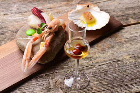 scampi: Fresh Scampi with octopus and Scallop