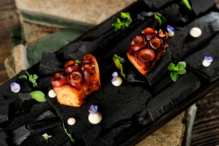 Grilled Octopus, Fine dining