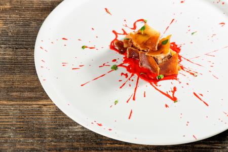 Haute cuisine, Pork Confit steak, Fine dining