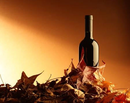 merlot: wine red bottle Stock Photo