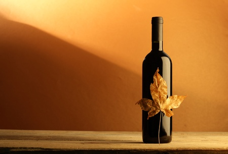 wine red bottle Stok Fotoğraf