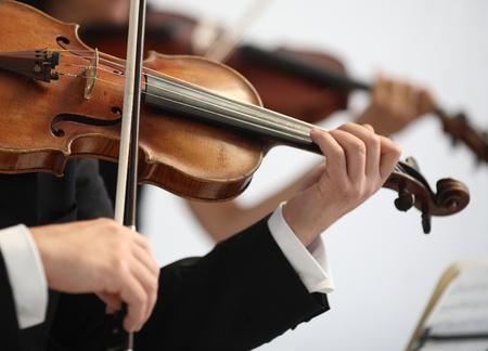 Szczegóły muzyków grać symfonię