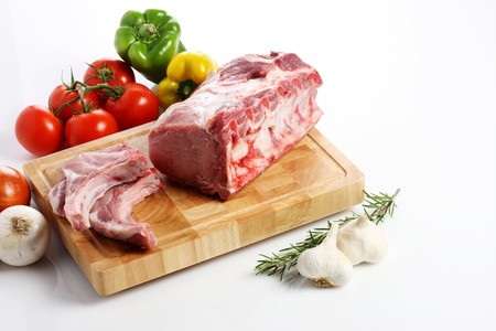 Raw meat. Isolated Reklamní fotografie - 10861936