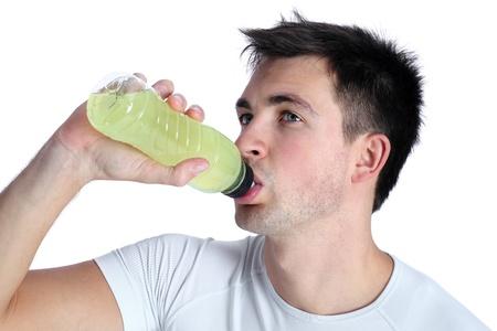boy drinking energy photo