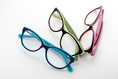 composition of colored glasses photo