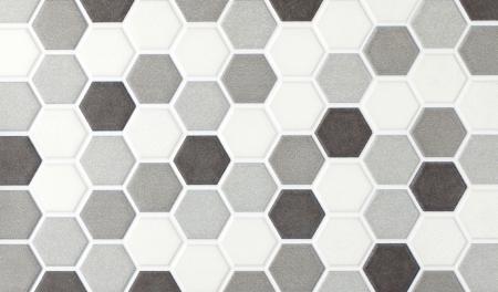 grijs marmer zeshoekige tegels Stockfoto