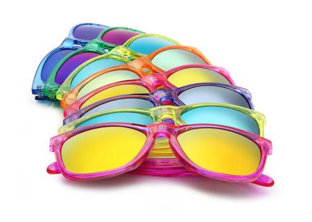 purple glasses: colored sunglasses, summer concept Stock Photo