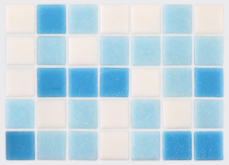 background of mosaic blue and white tiles photo