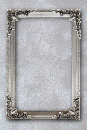 silver frame: silver picture frame on background with effects
