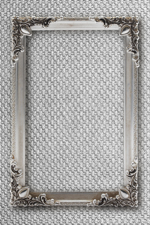 argent: silver picture frame on background with effects