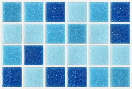 キラキラ飾られたタイル モザイク正方形の青いテクスチャ背景