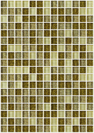 tile mosaic square decorated with glitter golden texture background photo