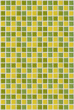 hintergrund gr�n gelb: Fliesen Mosaik quadratischen gr�n gelb Textur Hintergrund