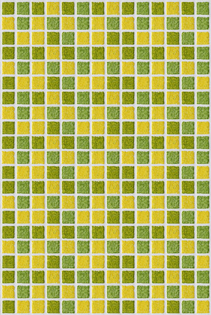 tile mosaic square green yellow texture background photo