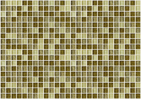 glossiness: tile mosaic square decorated with glitter golden texture background