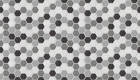 pequeñas baldosas hexagonales sin costura de mármol Foto de archivo