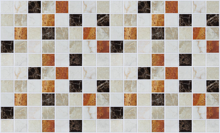 kitchen tiles: small square marble tiles with color effects