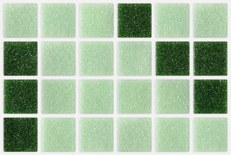 small marble tiles green square shiny Stock Photo