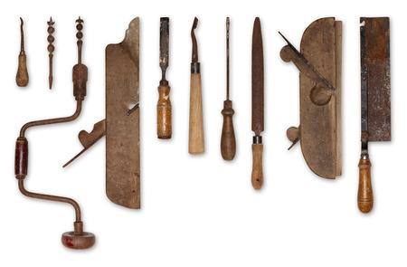 samenstelling van oude gereedschappen voor hout