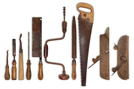 나무 오래 된 도구의 구성