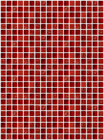 small marble square tiles with red color effects