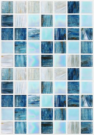 blauwe vierkante tegels met verschillende effecten marmer Stockfoto