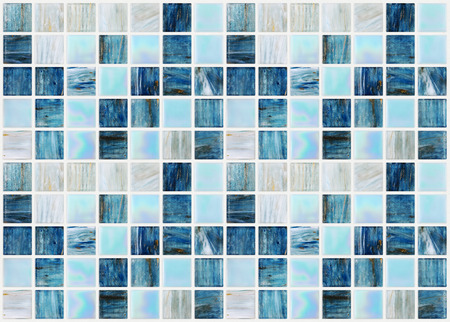 tile wall: blue square tiles with various effects marble