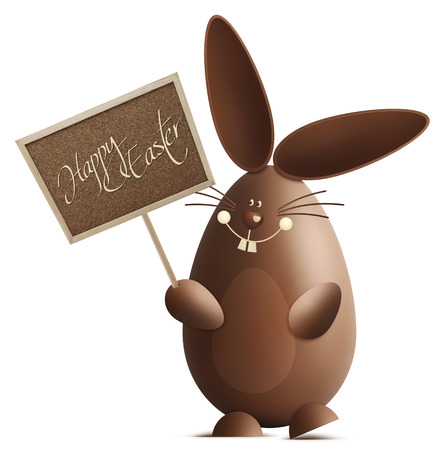 graphic display cards: smiling easter bunny Stock Photo