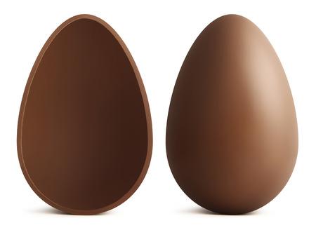 chocolate Easter eggs on white background Stok Fotoğraf - 37567654