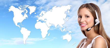 Call-Center-Betreiber internationale Kontakt