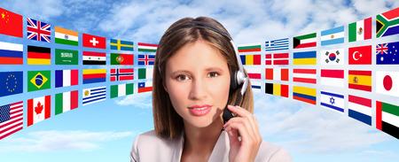 turism: call center operator international contact