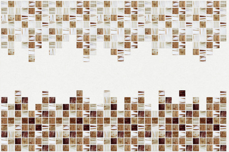 mosaic floor: small colored decorative tiles mosaic