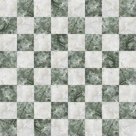 textured effect: checkered tiles seamless with green and white marble effect
